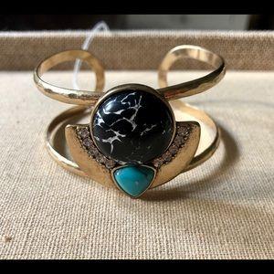 Capri Turquoise Cuff Bracelet by Chloe + Isabel